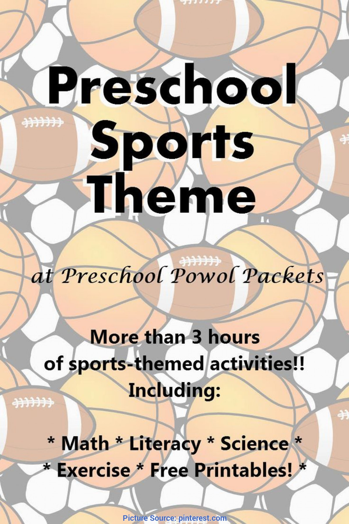 Top Pre K Lesson Plans Sports Sports Theme Preschool