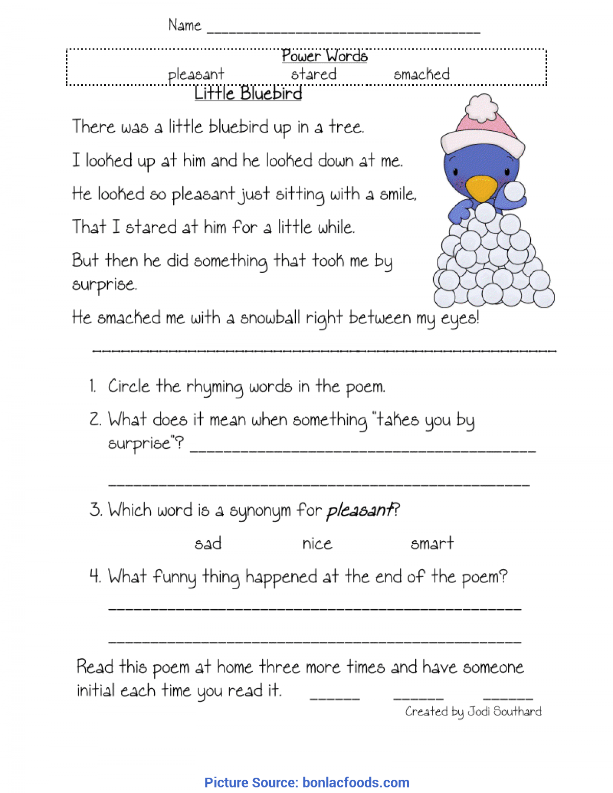 Free Printable Poems For First Graders
