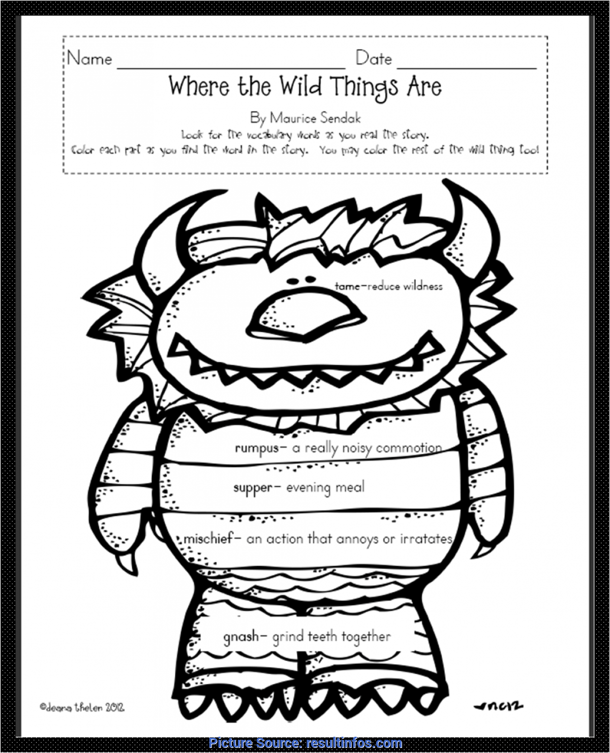 Trending Where The Wild Things Are Lesson Plans Where The