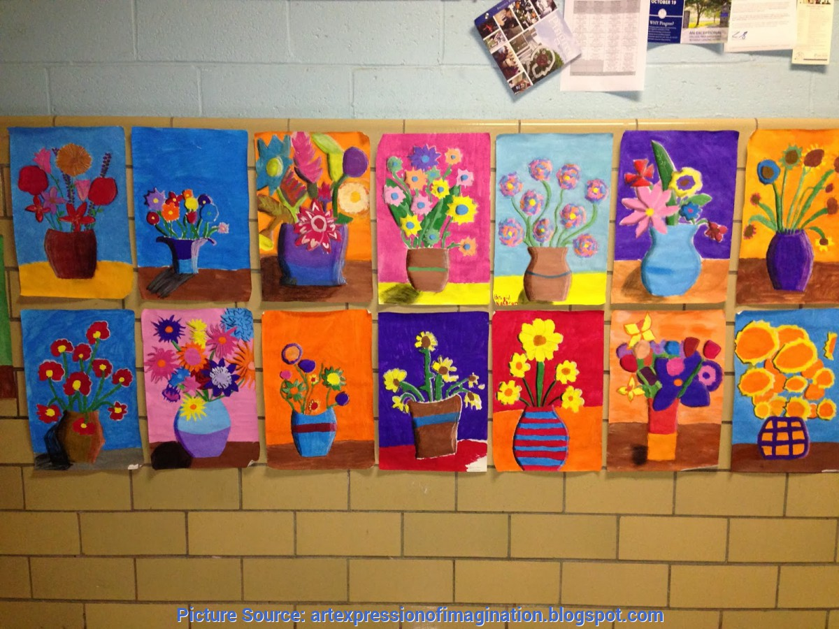 Unusual 8th Grade Art Lessons Art Expression Of Imagination Van Gogh Inspired Flowers By 8th G