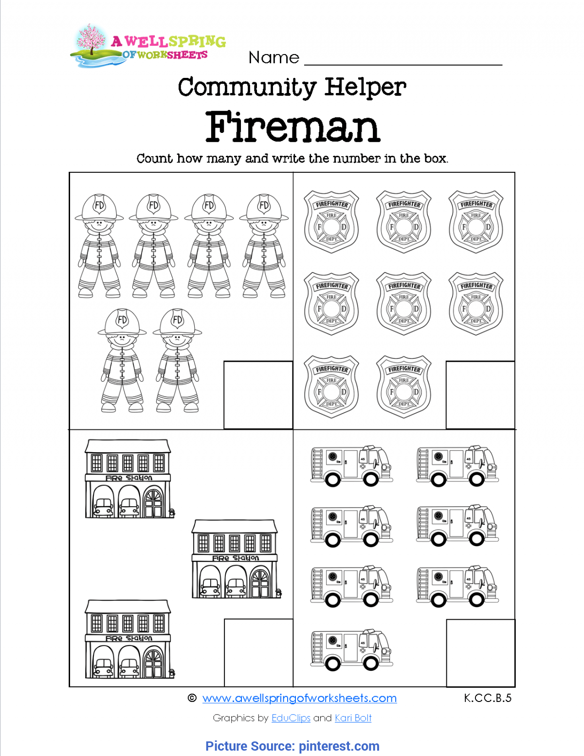 Useful Community Helper Worksheets For First Grade