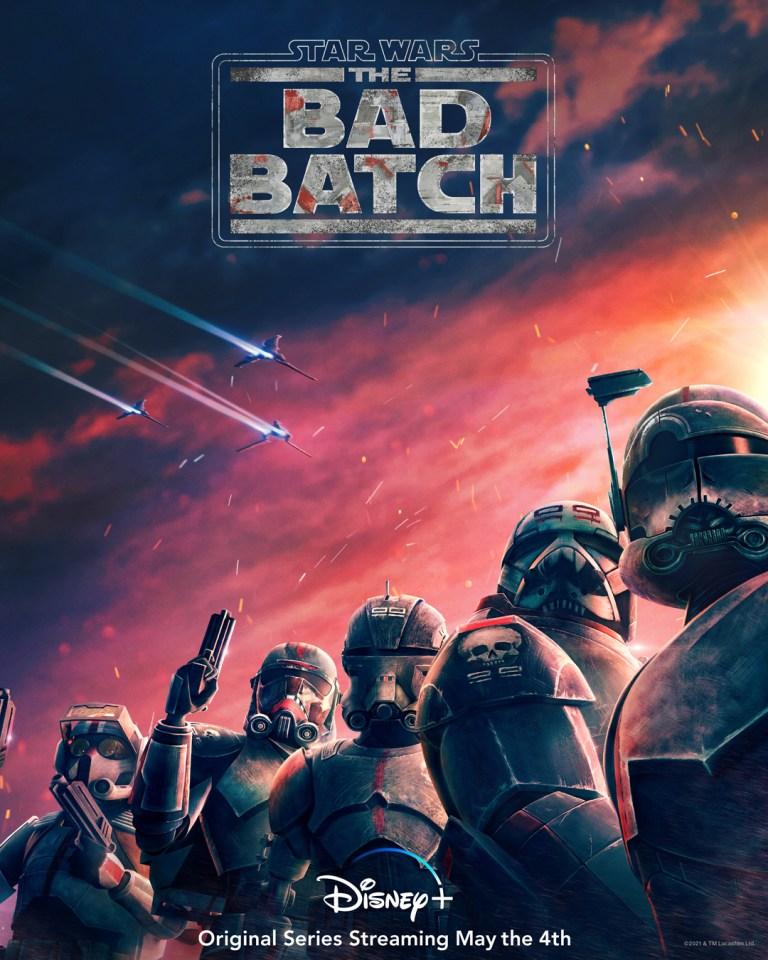 Pôster de The Bad Batch apresentando a Força Clone 99 - Otageek