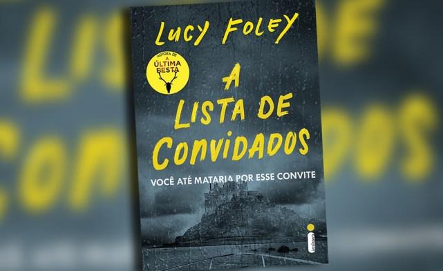 """Capa do livro """"A listas de convidados"""", imagem de uma ilha. -otageek"""