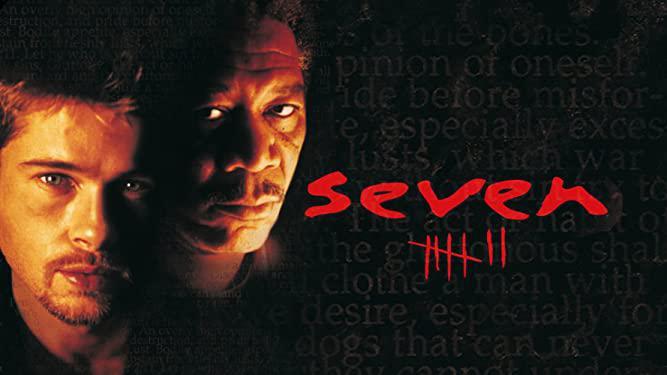 "Brad Pitt e Morgan Freeman em ""Seven: Os Sete Crimes Capitais"". Otageek"