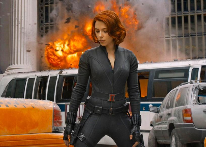 A atriz Scarlett Johansson como Viúva Negra em 'Vingadores'. Otageek