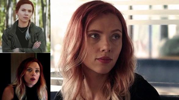 Uma mulher em três situações diferentes