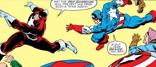 Guardião Vermelho e Capitão América nos quadrinhos - otageek