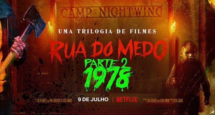 """Pôster de """"Rua do Medo: 1978"""" , uma sequência que vale a pena, na Netflix. - Otageek"""