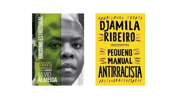 Capa de dois livros que falam sobre o racismo