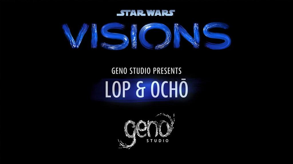 Logo do episodio 8 da série Star Wars: Visions com o estúdio Geno