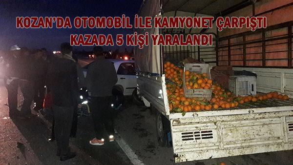 KOZAN'DA TRAFİK KAZASI 5 YARALI