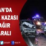 KOZAN'DA MEYDANA GELEN TRAFİK KAZASINDA 1'İ AĞIR 5 KİŞİ YARALANDI