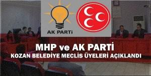 MHP ve AK PARTİ BELEDİYE MECLİS ÜYELERİ AÇIKLANDI