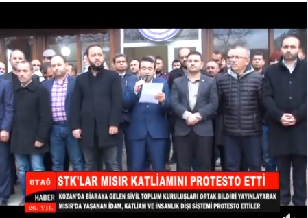 STK'LAR MISIR KATLİAMINI PROTESTO ETTİ