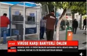 KOZAN'DA VİRÜSE KARŞI BARİYERLİ ÖNLEM