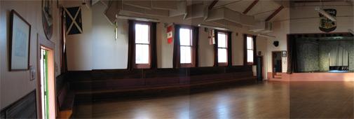 Band Hall inside: panorama