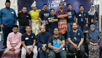 Antara ahli jawatan kuasa daripada JOMWEB, NEF dan TM:RE
