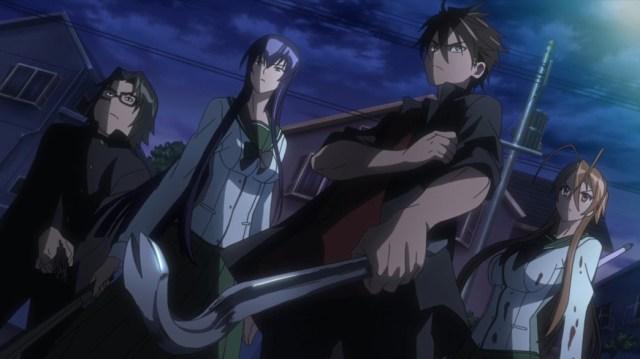 Highschool of the Dead Episode 5 Hirano Saeko Takashi and Rei prepare to Fight