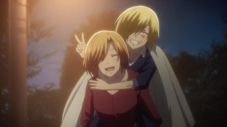 Fruits Basket Episode 17 Kyoko Carrying Arisa Home