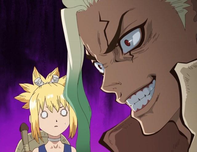 Dr Stone Episode 9 Senku's plotting Face with Kohaku