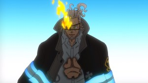 Fire Force Episode 7 Leonard Burns Unphased by Shinra's Attack