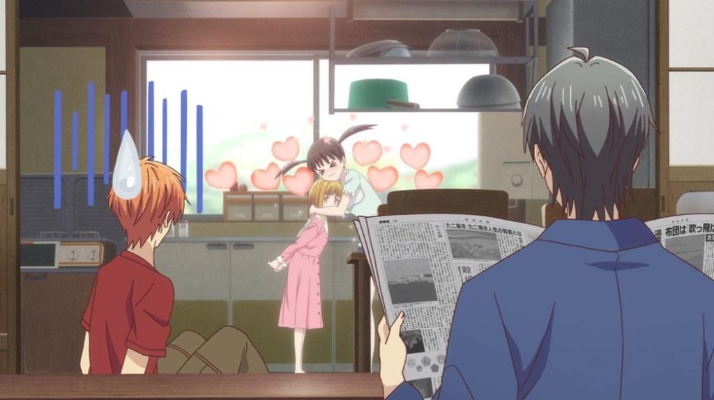 Fruits Basket Episode 18 Tohru Enjoying Having Kisa Around