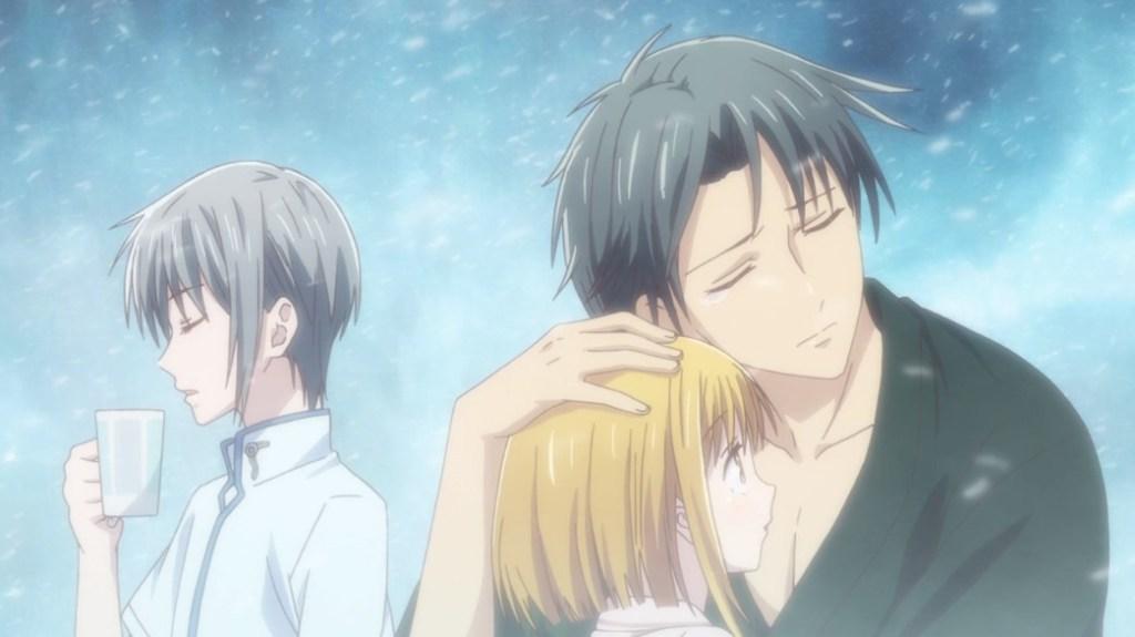 Fruits Basket Episode 20 Shigure Hugging Kisa With Yuki Bashing Him