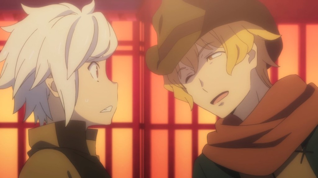 Is It Wrong To Try To Pick Up Girls In A Dungeon II Episode 6 Bell Bumps Into Hermes