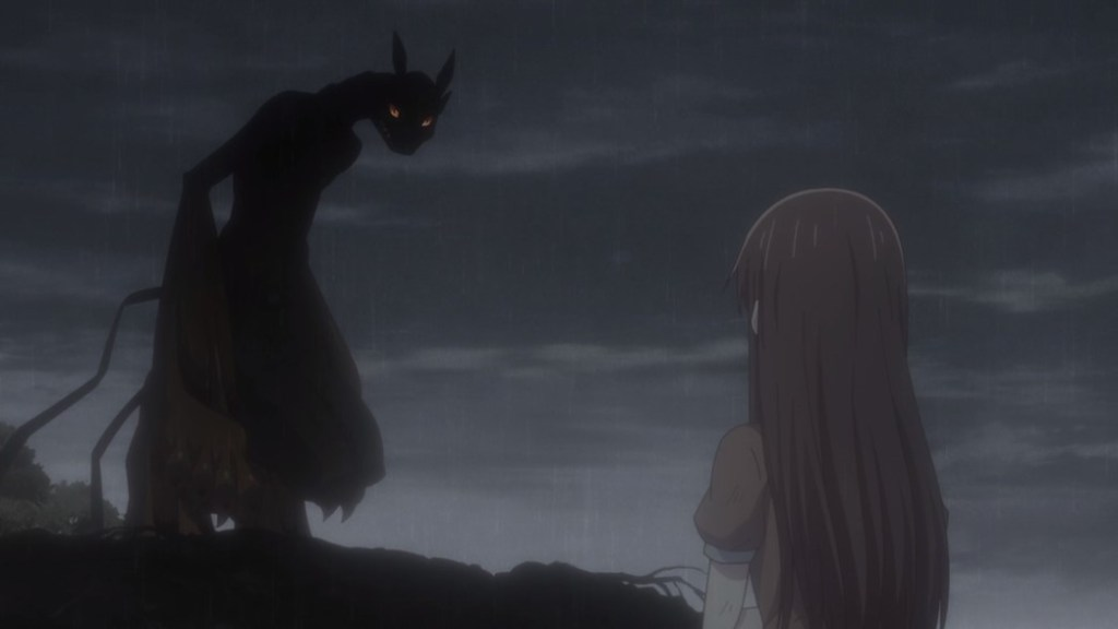 Fruits Basket Episode 24 Tohru stares at Kyo's true form