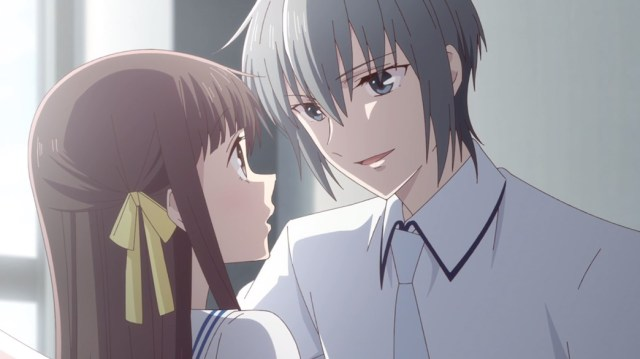Fruits Basket Episode 25 Yuki Wall Slams Tohru