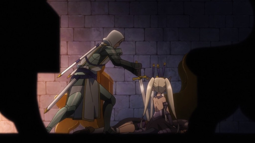 How Not To Summon A Demon Lord Episode 11 Saddler Stabs Rem in front of Clem