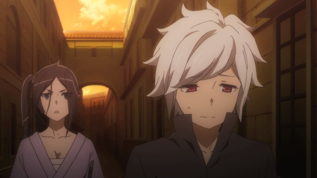 Is It Wrong To Try To Pick Up Girls In A Dungeon II Episode 8 Mikoto and Bell Disheartened