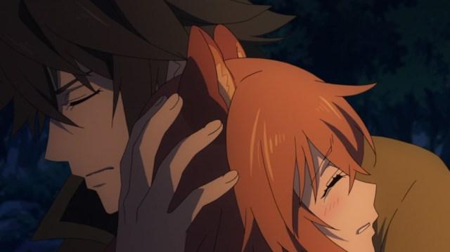The Rising Of The Shield Hero Episode 2 Naofumi Comforts Raphtalia
