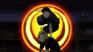 Fire Force Episode 13 Arthur and Shinra Fighting