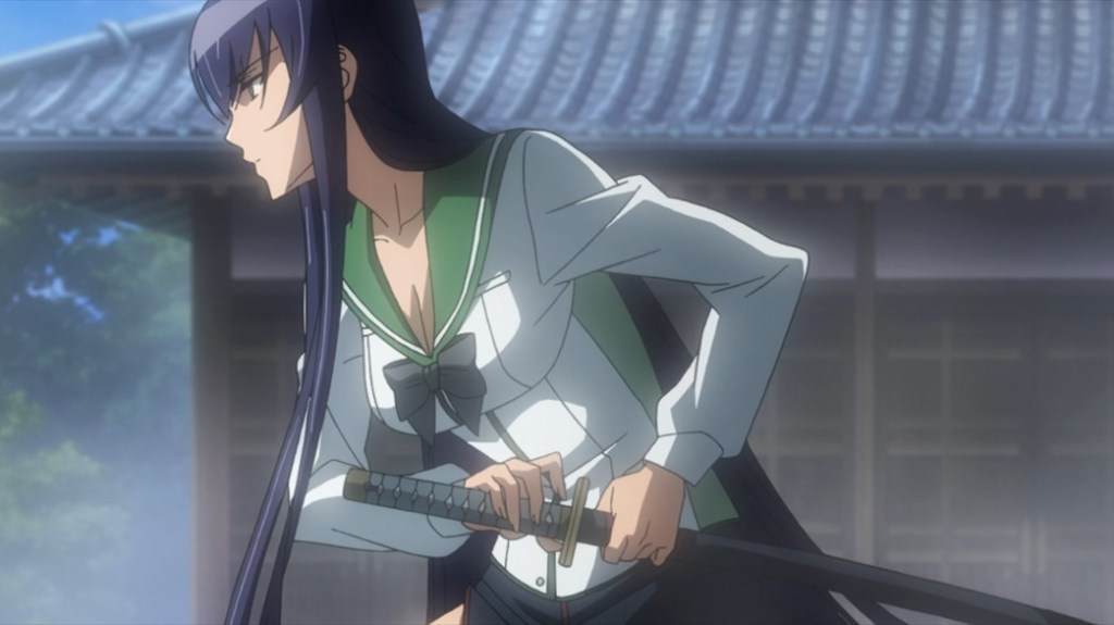 Highschool of the Dead Saeko Attack Stance
