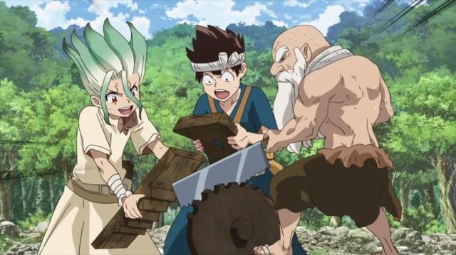 Dr Stone Episode 21 Senku Chrome and Kaseki can't Stop
