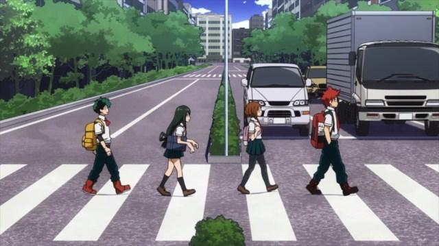 My Hero Academia 4 Episode 69 Midoriya Tsuyu Uraraka and Kirishima