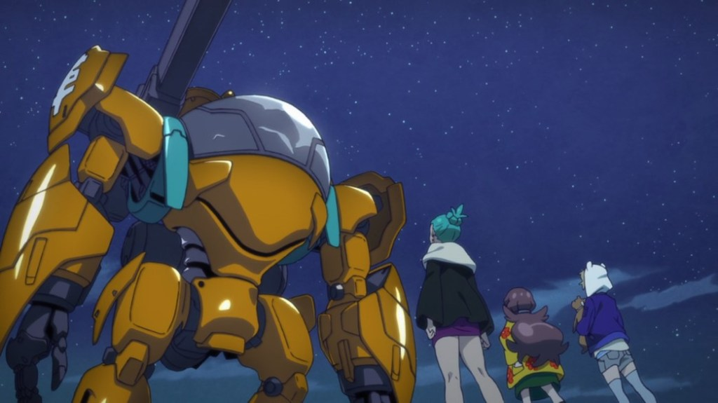 Punch Line Ito Meika and Lovera Giant Mecha