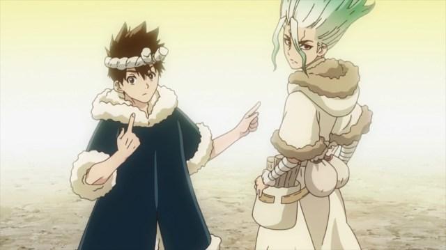 Dr Stone Episode 23 Chrome and Senku are Kaseki's Friends