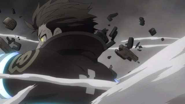 Fire Force Episode 20 Hinawa's Gun Explodes