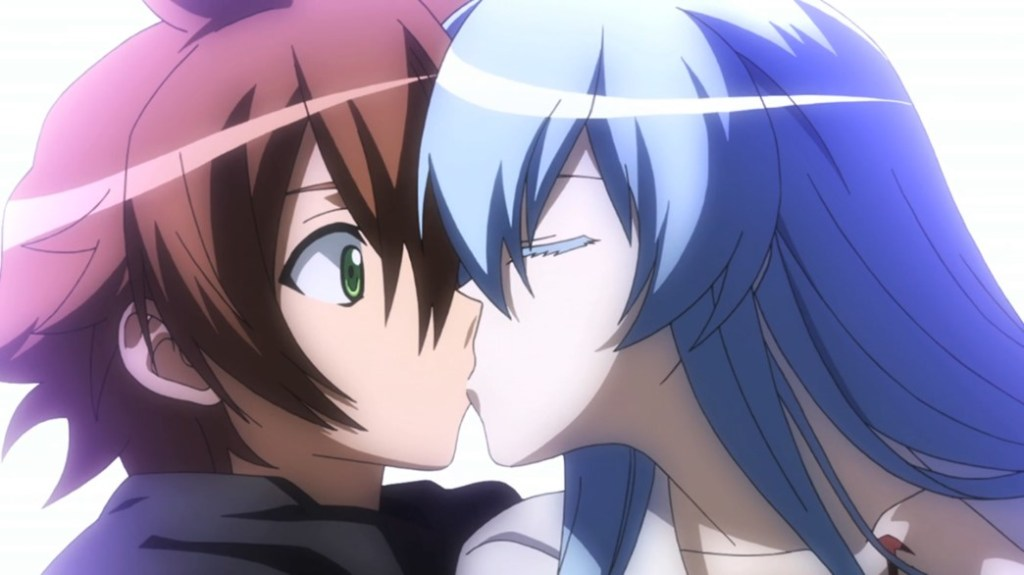 Akame ga Kill Episode 10 Esdeath kisses Tatsumi