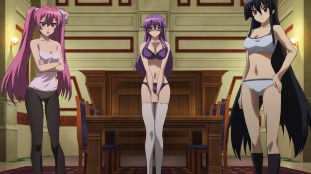 Akame ga Kill Episode 5 Mine Sheele and Akame Underwear