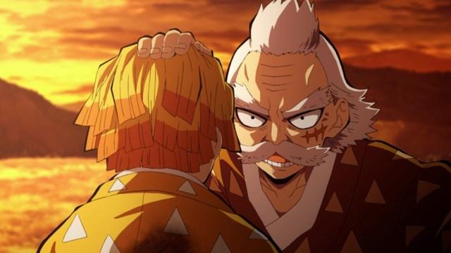 Demon Slayer Kimetsu No Yaiba Episode 17 Zenitsu training with Grandpa