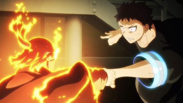 Fire Force Episode 24 Leonard Burns Versus Shinra