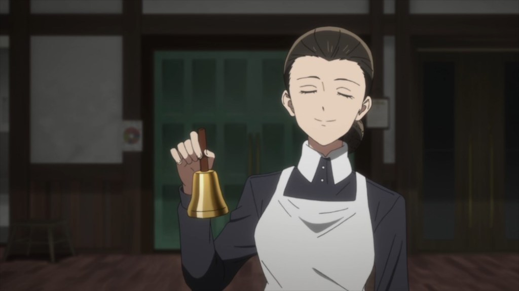 The Promised Neverland Episode 1 Isabella Ringing for Breakfast