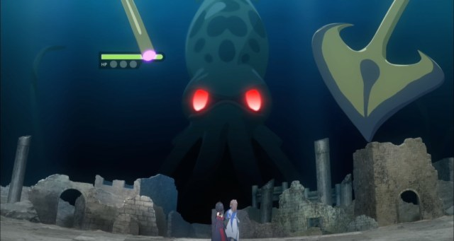 BOFURI Episode 5 Sally and Maple versus Sea Boss
