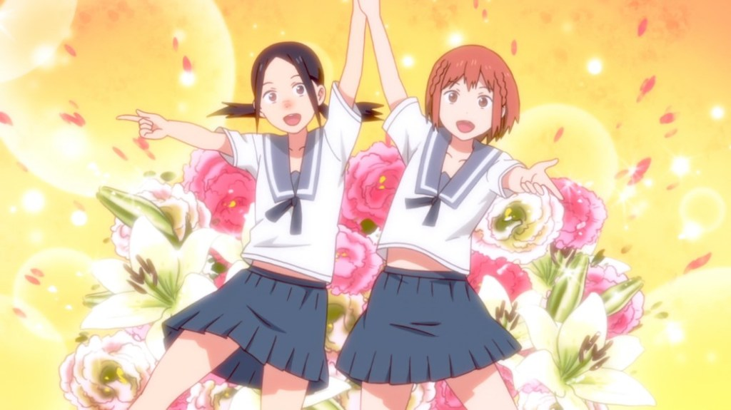 Chio's School Road Episode 5 Chio and Manana Cat Dance