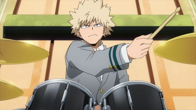 My Hero Academia 4 Episode 82 Bakugo on the Drums