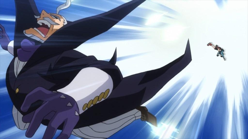 My Hero Academia 4 Episode 84 Midoriya hits Gentle with an Air Blast