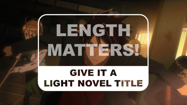The Otaku Author Give it a Light Novel Title